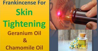 Frankincense for skin tightening | Geranium Oil & Chamomile Oil