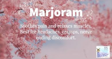 Come find out what MARJORAM essential oil can do to help.