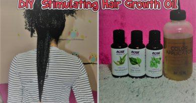DIY Stimulating Hair Growth Oil with Peppermint Tea Tree & Eucalyptus essential oils.