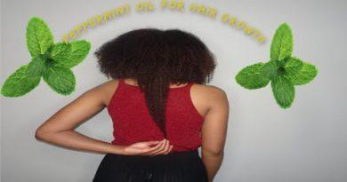 Peppermint Oil for Hair Growth + Scalp Massage