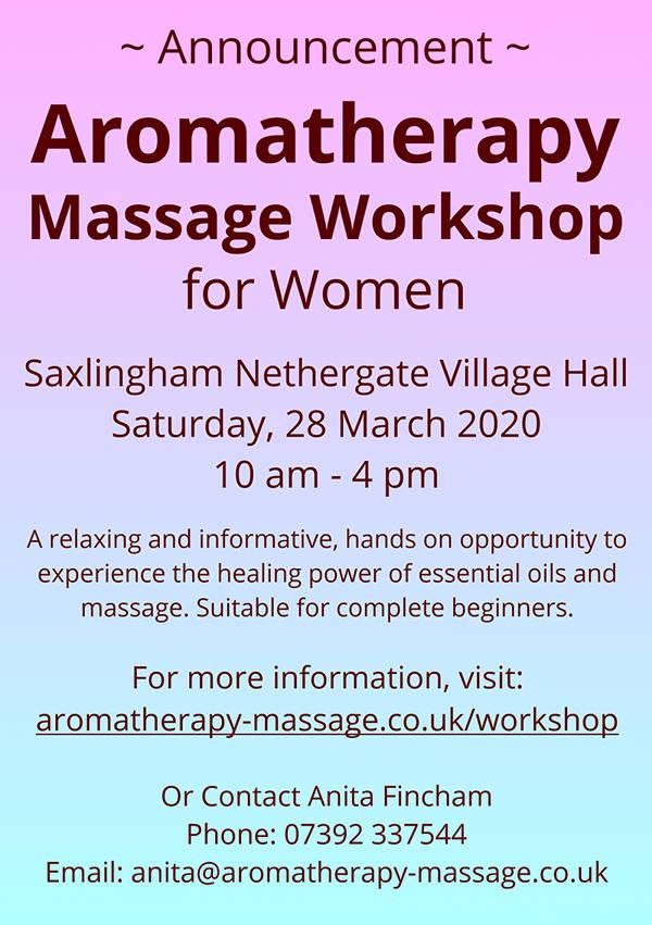 Aromatherapy Workshop Leaflet March 2020