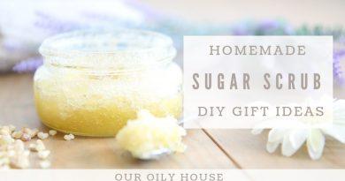 Homemade Sugar Scrub using Essential Oils | Frankincense and Lavender