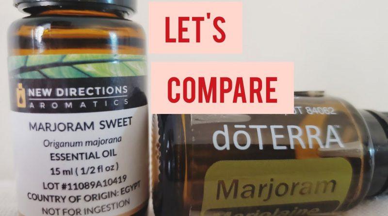 DOTERRA MARJORAM vs NEW DIRECTIONS (NDA) MARJORAM | Comparing smell