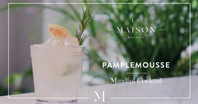 Non-Alcoholic Mindful Cocktail with Rose & Grapefruit Essential Oils   La Maison Wellness