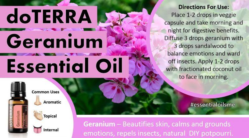 Fabulous doTERRA Geranium Essential Oil Uses