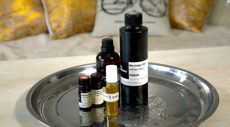 How to make a natural Grapefruit, Vetiver & Ginger Perfume Blend