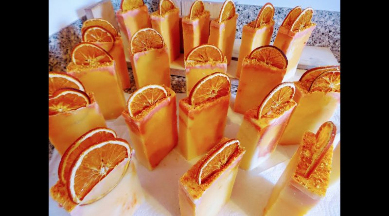 How to Make Orange Soap with Sweet Orange Essential Oil (Easy Soap Making)